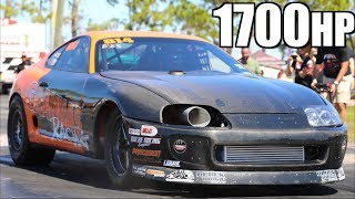 Fastest Stick Shift Supra Ever vs Cleetus McFarland   RWD Stick Shift Record Set by LT1 Camaro by  That Racing Channel