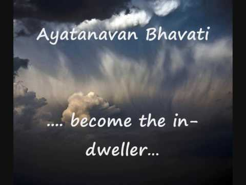 Mantra with English sub-titles  Mantra Pushpam  Yajur Veda  Chant for Self- awareness