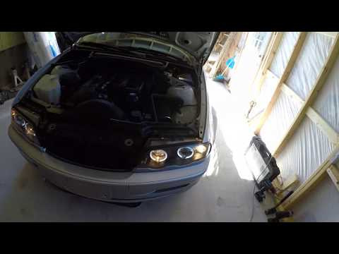 How To Install BMW E46 Ebay Aftermarket Projector Headlight Angel Eye Halo Light