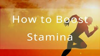 Yoga exercise to boost your stamina.