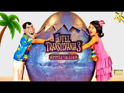 Hotel Transylvania 3 GIANT HATCHING SURPRISE EGG Sends Kids on Summer Vacation + Surprise Toys