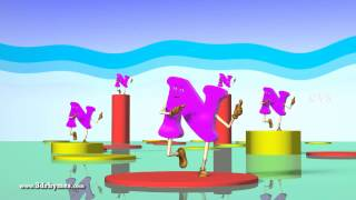 Letter N Song - 3D Animation Learning English Alphabet ABC Songs For children