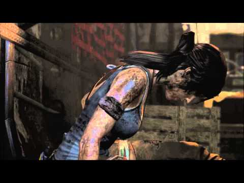 Tomb Raider - Shanty Town: Pain Helicopter Lighter Arrow Cutscene,  HD Gameplay PC