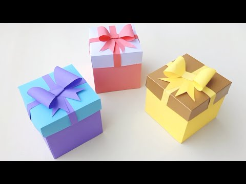DIY Gift Box / How to make Gift Box ? Easy Paper Crafts Idea