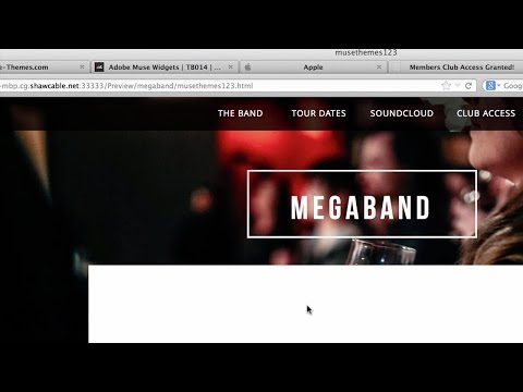 Adobe Muse Password Protection Tutorial - Widget by MuseThemes.com