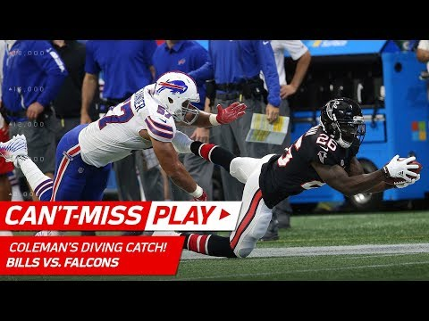 Video: Tevin Coleman's Unbelievable Catch Leads to Devonta Freeman's TD! | Can't-Miss Play | NFL Wk 4