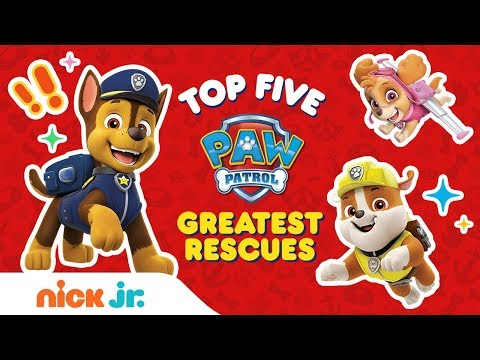 Top 5 Greatest PAW Patrol Rescues Ft. Chase, Marshall & More! | PAW Patrol | Nick Jr.