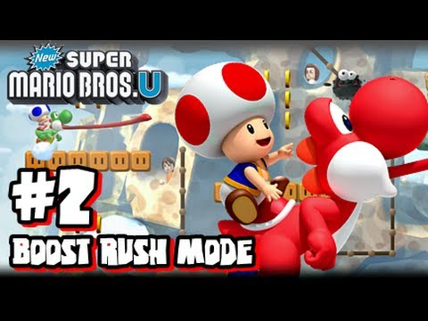 new Wii u - This is my HD Let's Play with live commentary of New Super Mario Bros U for the Nintendo Wii U! This is part 2 of the Boost Rush Mode and we do the Yoshi, Pe...