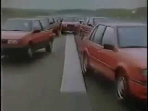 1980s TV Commercial – ISUZU GEMINI Cars – Dancing in Paris – Real Car Stunts