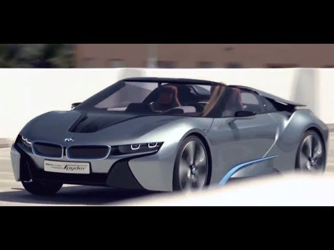 New BMW i8 Spyder 2012 In Detail Driving Commercial Electric Car - New Carjam Radio Show 2012