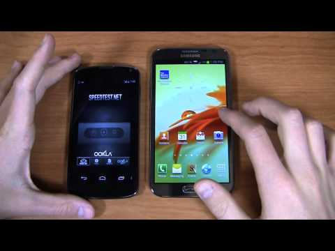 Google Nexus 4 vs. Samsung Galaxy Note II Dogfight Part 2