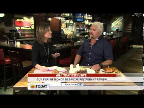 Guy Fieri Restaurant: Bad Review GREAT Promotion Opportunity