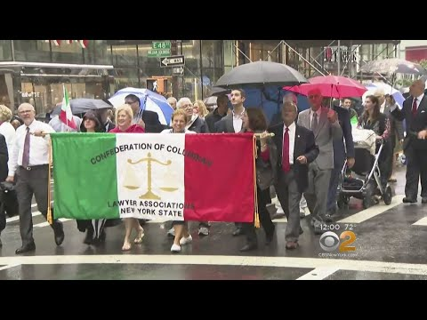 Columbus Day Parade Goes On Despite Statue Controversy