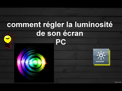 comment regler luminosite ecran pc