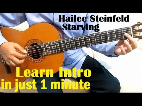 Hailee Steinfeld & Grey ft. Zedd Starving Guitar Tutorial (Intro) – Guitar Lessons for Beginners