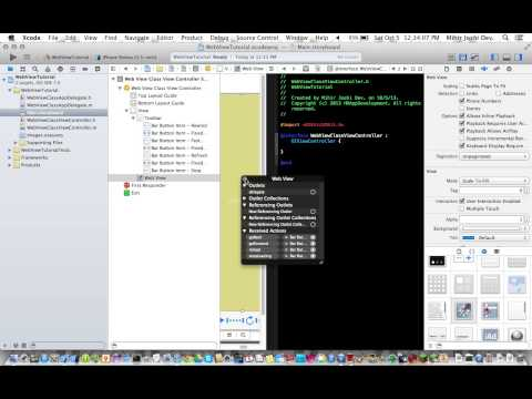 WebView In Xcode 5 Part 1