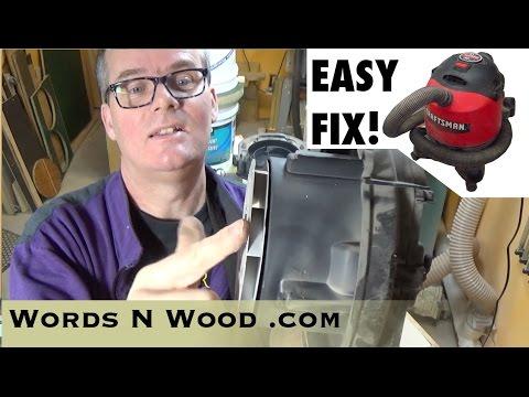 Easy Shop Vac Fix for noisy bearings (WnW #43)