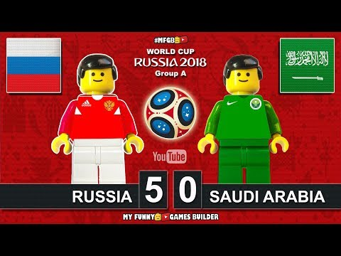 Russia vs Saudi Arabia 5-0 • World Cup 2018 (14/06/2018) All Goals Highlights Lego Football