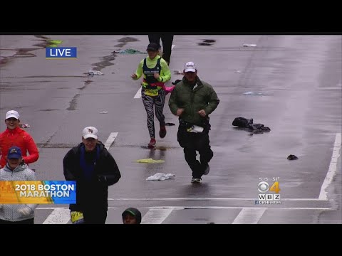 Medical Tent Busy At Boston Marathon Finish Line
