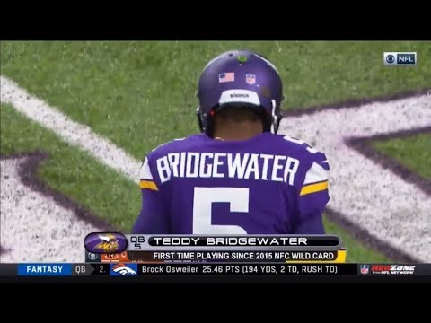 Teddy Bridgewater Returns for First Game Since Jan. 3rd Of 2016 | Vikings vs Bengals