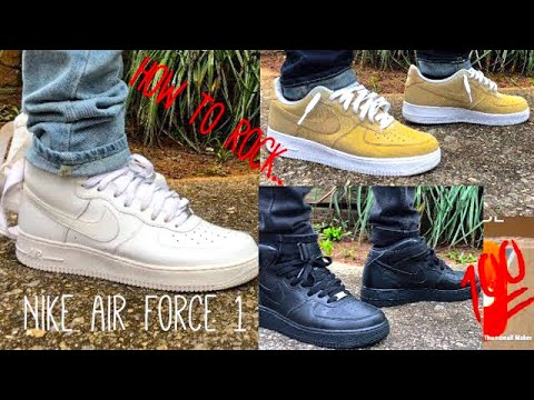 How to rock Nike Air Force 1's