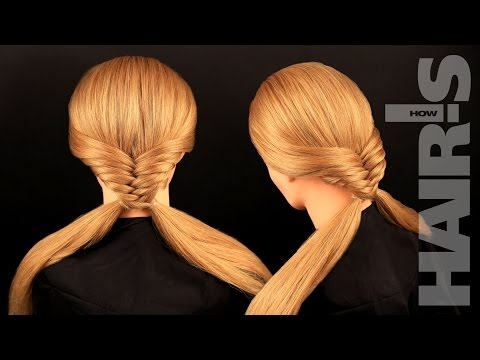 How to do a fishtail braid with pigtails hairstyle