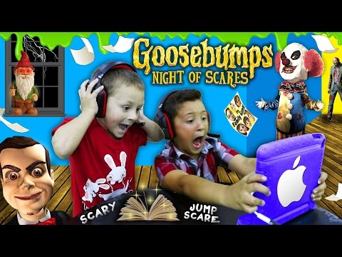 NIGHT OF JUMP SCARES!! Mike & Chase play GOOSEBUMPS N.O.S. iOS Game! (FGTEEV Scariest Gameplay) (видео)