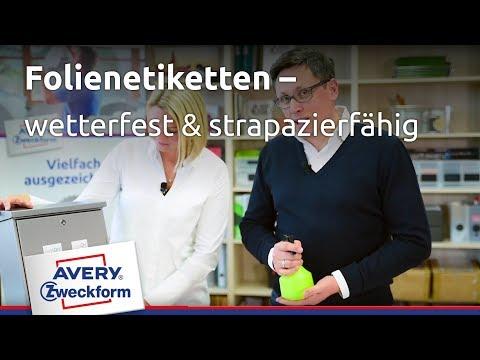Avery Zweckform Etiketten & Aufkleber: Papieretiketten vs. Folienetiketten