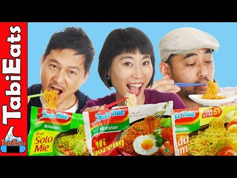 Japanese Try Indonesian Instant Noodles For The First Time EPIC TASTE TEST