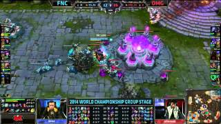 FNC epic backdor 1 hit away from winning - FNC vs OMG S4 WorldLeague of Legends LCS HighlightsLike us on Facebook : http://on.fb.me/1k7FA5oFollow us on Twitter : http://bit.ly/1pFYvk4Google+ : http://bit.ly/1rGSdDCIf you want to see more League of legends highlights, Please hit the subscribe button for more entertainment. :)Partner with Freedom! ➜ http://www.freedom.tm/via/LoLLCSHighlights07 - Be free.Get more views!➜ http://www.freedom.tm/grow - Grow with us.Become a network!➜ http://www.freedom.tm/network