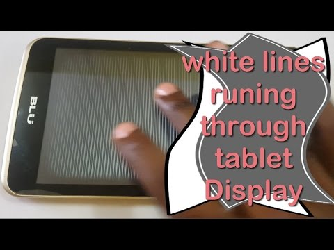 , title : 'Horizontal white lines runing through tablet screen fix'