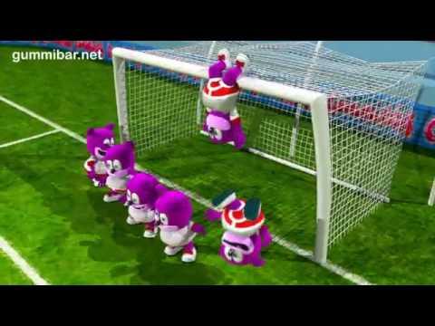 OSITO GOMINOLA español: A jugar ¡Chile a ganar el mundial ! todos con la roja