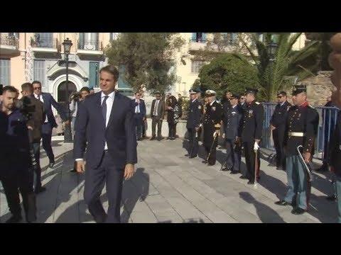 Στη Θεσσαλονίκη ο πρόεδρος της ΝΔ Κυριάκος Μητσοτάκης