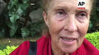 """(15 Jul 2017) Karen Hastings was in her 31st floor Honolulu apartment when she smelled smoke. She ran out to her balcony, looked down, and saw flames five floors below her.""""The fire just blew up and went flying right out the windows,"""" the 71-year-old Hastings said of the first moments of the high-rise blaze that killed at least three people and injured 12. """"And that was like a horror movie. Except it wasn't a horror movie, it was for real.""""The fire broke out Friday afternoon in a unit on the 26th floor, where all three of the dead were found, Fire Chief Manuel Neves said.The building known as the Marco Polo residences is not required to have fire sprinklers, which would have confined the blaze to the unit where it started, Neves said. The 36-floor building near the tourist mecca of Waikiki was built in 1971, before sprinklers were mandatory in high-rises. It has over 500 units.Hastings said the fearsome flames drove her and a neighbor to run down 14 floors until they found a safe stairwell to get some air.""""We actually saw a person laying on a ledge and I don't know whether he made it not,"""" Hastings said.The building is vast and wave-shaped, and has several sections. The blaze was mostly confined to a single section, and only the units immediately above it and to the side of it were evacuated, while many residents stayed inside.Most evacuations went calmly and smoothly, according to a security guard.The dead were found on the 26th floor, where the fire broke out around 2:15 p.m. and then spread to the 28th floor of the Marco Polo residences, according to the fire chief. Firefighters were searching the damaged areas to make sure no additional people perished.You can license this story through AP Archive: http://www.aparchive.com/metadata/youtube/0df093bfc72be03532b2db45ee8b248a Find out more about AP Archive: http://www.aparchive.com/HowWeWork"""