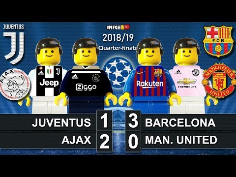 Juventus vs Ajax 1-2 • Barcelona vs Man. United 3-0 • Champions League Goal Highlights Lego Football