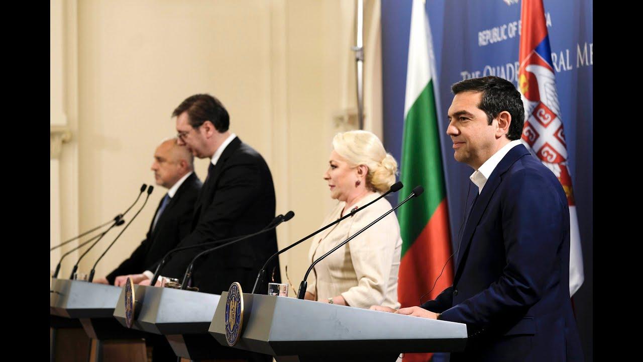 Δηλώσεις στο πλαίσιο της 7ης Συνόδου Ελλάδας-Ρουμανίας-Σερβίας-Βουλγαρίας