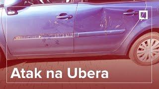 Taryfiarze wabią i demolują Ubera (video)