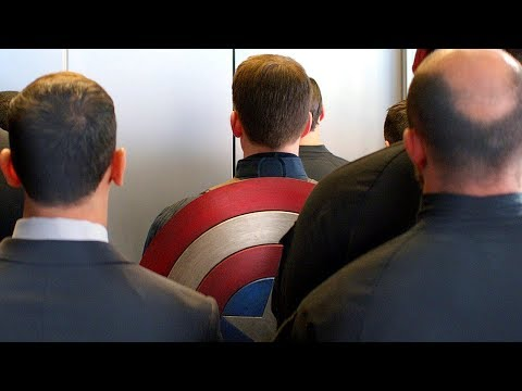Elevator Fight Scene - Captain America: The Winter Soldier (2014) Movie CLIP HD