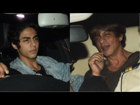 Shah Rukh Khan and Aryan Khan Attends  Karan Johar's Christmas Party