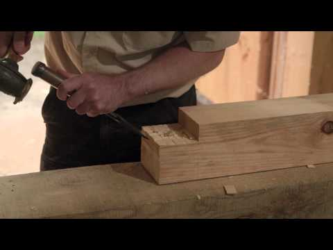 Cutting a Traditional Pegged Mortise and Tenon Joint