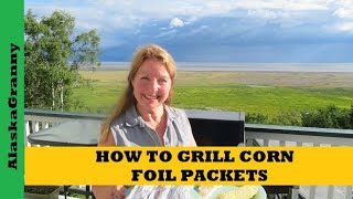 The Best Way To Grill Corn On The Cob is a foil packet with butter.   Weber Gas Grill  http://amzn.to/2eXYlXi  To grill sweet corn remove the husk and silk from each ear of corn, double wrap in foil with 2 pats of fresh butter.  Grill on a medium heat for 15 minutes, turning every 5 minutes.  Open your corn on the cob foil packet carefully.  It will be full of steam and heat.  Perfectly grilled corn on the cob in a foil packet with butter! ★☆★ SUBSCRIBE TO ME ON YOUTUBE: ★☆★https://www.youtube.com/c/alaskagranny?sub_confirmation=1 ★☆★ FOLLOW ME BELOW: ★☆★Blog: http://www.alaskagranny.com/recipes-outdoor-cooking/★☆★ RECOMMENDED RESOURCES: ★☆★Weber Gas Grill  http://amzn.to/2eXYlXiReynolds Foil Wrappers   http://amzn.to/2eU8VQ3Heavy Duty Foil  http://amzn.to/2itElAR