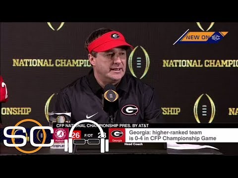 Kirby Smart gets emotional after Georgia's loss to Alabama in the national championship game   ESPN