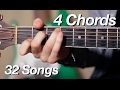 4 Chord Songs Mashup (32 Popular Songs on Acoustic Guitar)