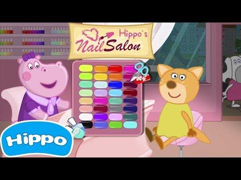 Jogos de meninas - Hippo  Salão de unha de hipopótamo  Manicure para meninas  Jogo de desenhos animados