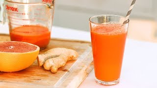 Grapefruit, Carrot, and Ginger Juice- Healthy Appetite with Shira Bocar by Everyday Food