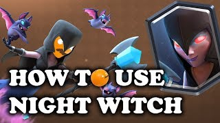 Introduction on how to use and counter Night Witch. Battles are going to be pretty different with her. She spawns bats, so there will ...