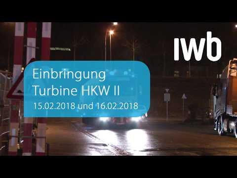 Holzkraftwerk II Basel – Einbringung Turbine