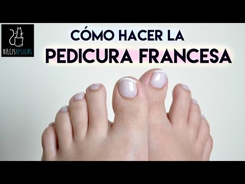 Pedicura francesa / French pedicure