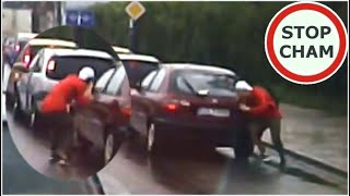 Kolizja i szybka zamiana kierowcy – nietuzinkowa sytuacja
