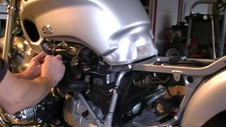 5. BMW R1200C Prep, Gas Tank Removal, for Battery Install - Part 1 of 3